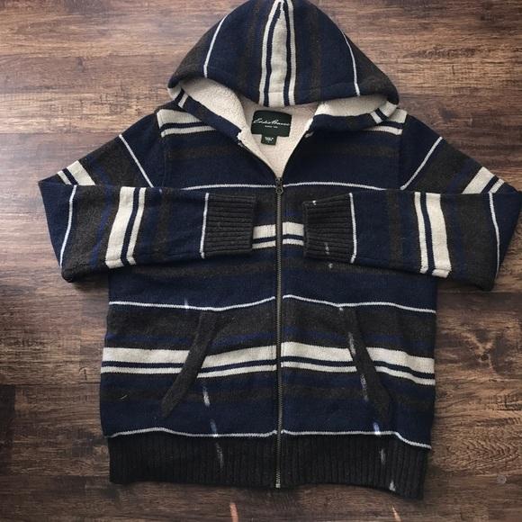 Eddie Bauer Sweaters Mens Sherpa Lined Sweater Hoodie Poshmark